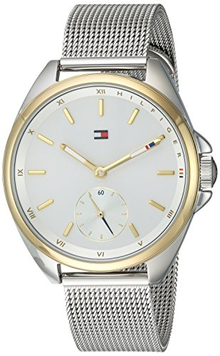 's Casual Sport Silver and Gold Quartz Watch with Two-Tone-Stainless-Steel Strap, 16 (Model: 1781759 ()