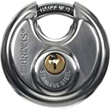 Brinks 663-60001 2-3/8-Inch 60mm Stainless Steel Discus Padlock