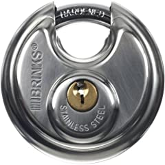 As a global leader in security-related products and services, the Brinks name is synonymous with top quality merchandise designed to keep you and your valuables safe. Brinks 663-60001 2-3/8-Inch 60mm Stainless Steel Discus Padlock is equipped...