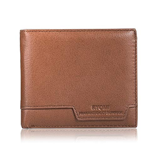 RYOMI Wallet for Men Genuine Leather RFID Blocking Front Pocket Bifold Wallet with Money Clip