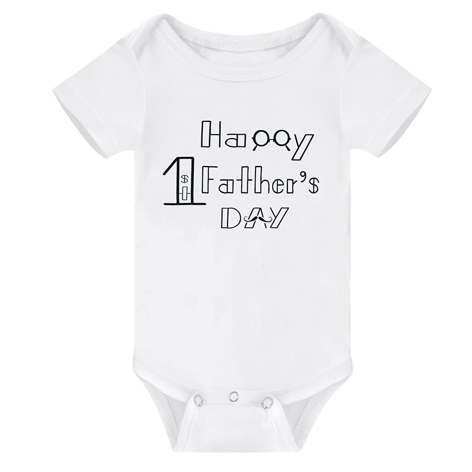 c0d5e6e6a Winzik Newborn Baby Boys Girls Outfits Happy 1st Father's Day Letters Print  Funny Onesie Romper Jumpsuit