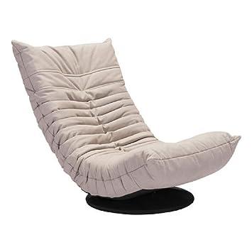 Miraculous Zuo Modern Down Low Swivel Chair Twin Beige Single Evergreenethics Interior Chair Design Evergreenethicsorg