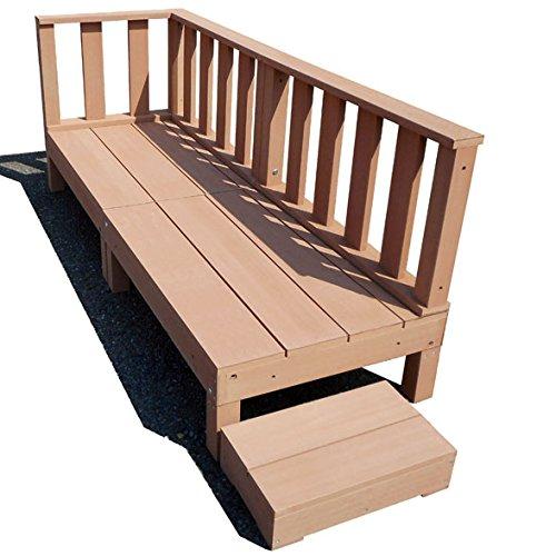 igarden アイガーデン アイウッドデッキ60系6点セットナチュラル アイガーデンオリジナル人工木ウッドデッキ、樹脂木、木樹脂、プラウッド、ウッドデッキセット、木製デッキ、縁台 B00Y8IFO10