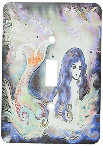 3dRose LSP _ 116246_ 1luminoso hermosa sirena en el agua bajo la luna Fantasy Art interruptor de botón único