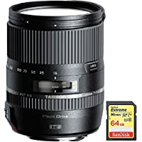 Tamron (AFB016N-700) 16-300mm f/3.5-6.3 Di II VC PZD MACRO Lens for Nikon Cameras with Lexar 64GB Professional 633x SDXC Class 10 UHS-I/U3 Memory Card Up to 95 Mb/s