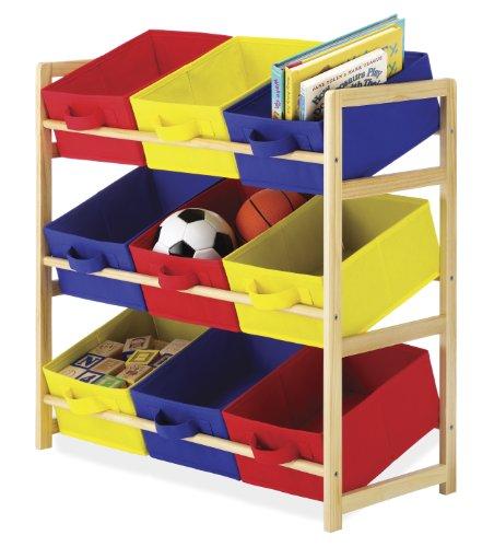 Whitmor 9 Bin Organizer, (9 Bin Toy Organizer)