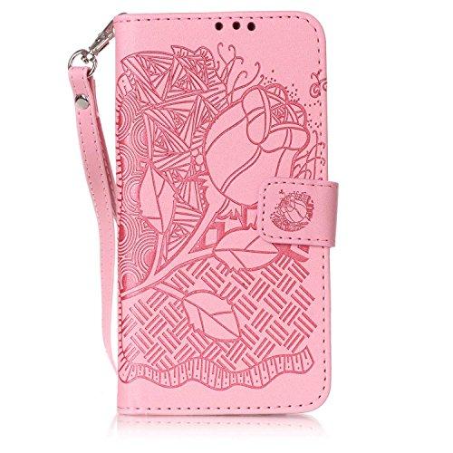 TOCASO- Lujo Clásico PU Leather Funda Cuero Con Tapa para Samsung Galaxy J5 (2016) J510, Case Cover Piel Funda Flip con Ranura Tarjeta para Samsung Galaxy J5 (2016) J510, Billetera Funda con Decoració Marron 3