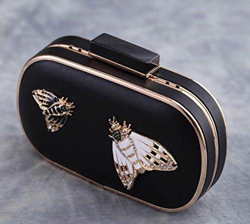 GSHGA Bow Evening Bag Clutch Bag Hot Selling Crossbody Bolsas De Hombro Bolsa De Mensajero,Black Black