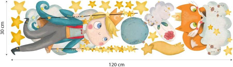 R00564 Stickers muraux renard /étoiles lune plan/ètes petite prince d/écoration murale chambre denfant cr/èche nid chambre