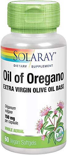 Solaray Oil of Oregano Supplement, 150 mg, 60 Count