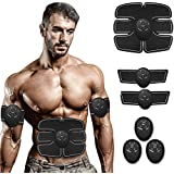 Reazeal Abs Stimulating Belt- Abdominal Toner-Training Device for Muscles- Wireless Portable to-Go Gym Device- Muscle…