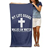 Wxf My Life Guard Walks On Water Christian Easter Religious Soft Lightweight Beach Towel Pool Towel 30x50