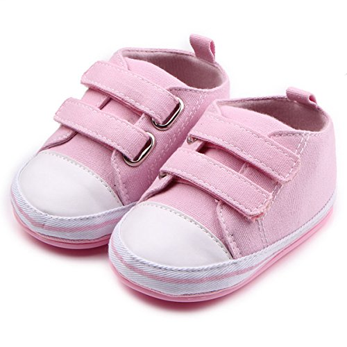 Baby Girl Pink Pram Shoes - 8