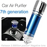 Ionic air purifier,Car Air cleaner and Ionizer, Car Air Freshener and Order Eliminator removers cigarettes Smoke, smell and bad odors (Blue)