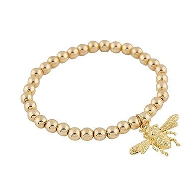 b7eaaf0a8092 LuckyLy – Pulseras Mujer Oro de Moda – Pulsera Sylvie Dije de Bugs (Bichos)