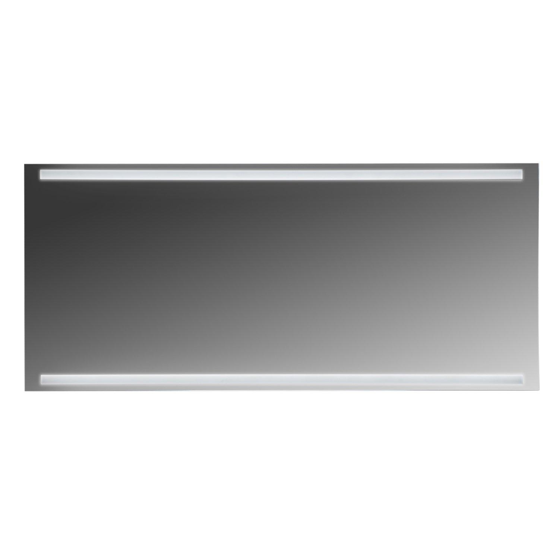 MAYKKE Harper 63'' W x 28'' H LED Mirror, Wall Mounted Lighted Bathroom Vanity Mirror, Frameless Mirror, Horizontal or Vertical UL Certified, LMA1076301