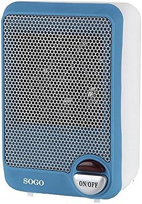 Sogo CAL-SS-18295-B Mini calefactor ventilador con motor DC, 600 W ...