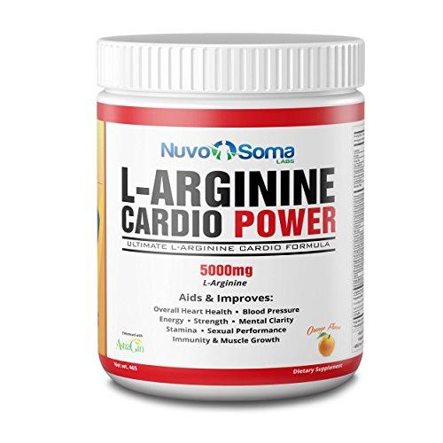 5000mg de L-Arginine Cardio Power : Booster puissant l'oxyde nitrique, w / L-citrulline, CoQ10 & resvératrol. Acides aminés son Muscle rapide, Boost Performance, augmentation d'entraînement Endurance.