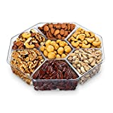Chocolate Decor Fresh Mixed Roasted Nuts Gift Basket Tray - 7 Section - 2 Lbs