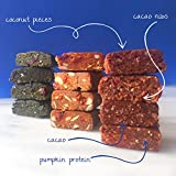 """Probiotic CareBar, Cacao & Coconut Snack Bars, 100% Organic Nutrition with Fruit & Nuts, Plant-Based, Vegan, Kosher, Gluten Free. A """"Healthy Brownie"""". Balanced Protein & Fiber. 1.59 OZ (12) Pack"""