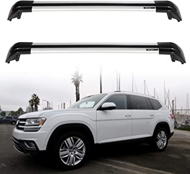 Fits For New VW Volkswagen Atlas 2018 2019 Roof Rack Aluminum Cross Bar Vehicle