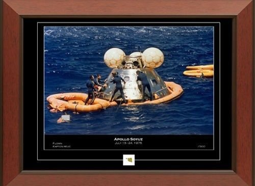 Historic Framed Print and Relic Wall Decor for Collectors With Certificates of Authenticity (Apollo-Soyuz)
