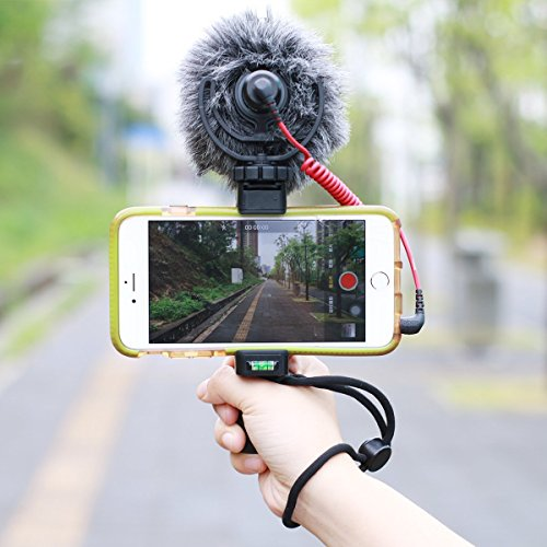 OCTO MOUNTS | F-Mount Mobile Smartphone Camera Grip Holder Handle Rig Monopod with Tripod Mount and Cold Shoe Mount for Filming Video on Most Smartphones - iPhone, iPhone Plus, Galaxy, Android by Octo Mounts (Image #1)