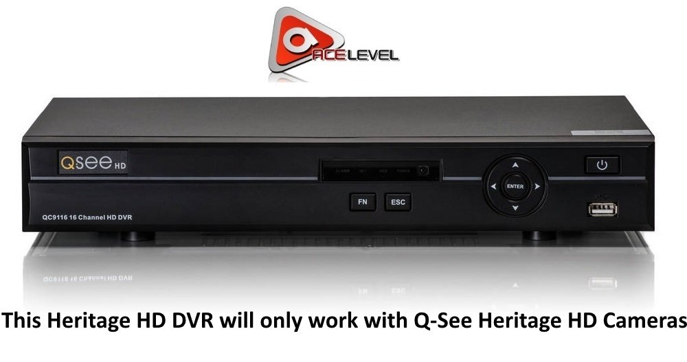 Q-see 16 Channel BNC Heritagehd DVR with 2tb Harddrive Qc9116