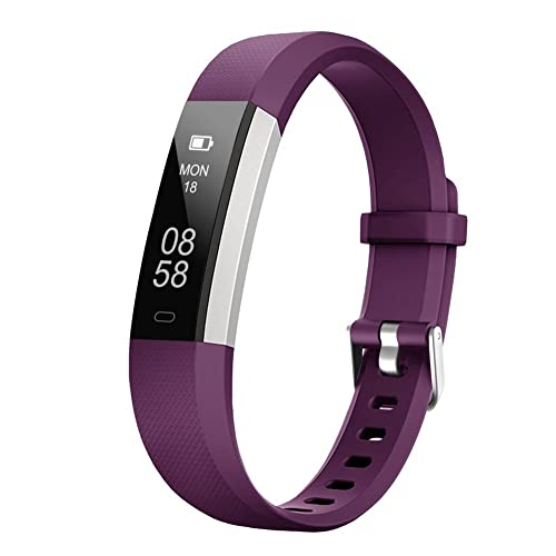 LETSCOM Fitness Tracker, Activity Tracker Watch with Sleep Monitor, Step Counter, Calorie Counter, Waterproof Slim Pedometer Watch for Kids Women and Men, iOS and Android