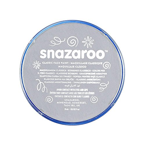 Snazaroo 1118122 Classic Face Paint, 18ml, Light Grey -