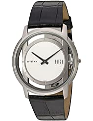 Titan Mens Edge Mineral Quartz Glass Slim Analog Wrist Watch- Ultra Slim with Metal/ Leather Strap