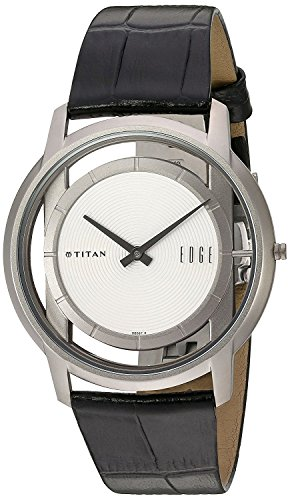 Titan Men's 1577TL01 Edge - Ultra Slim - Black Leather Strap Watch