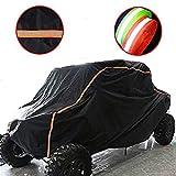 UTV Cover Waterproof UTV Storage Cover for Polaris RZR Protect Your Off-road Vehicle from Rain Snow Dirt UV Damage Black