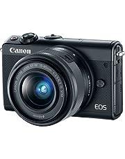 كانون M100 EF-M 15-45mm f/3.5-6.3 hd اي اي اس تي ام، كاميرا بدون مراة - اسود