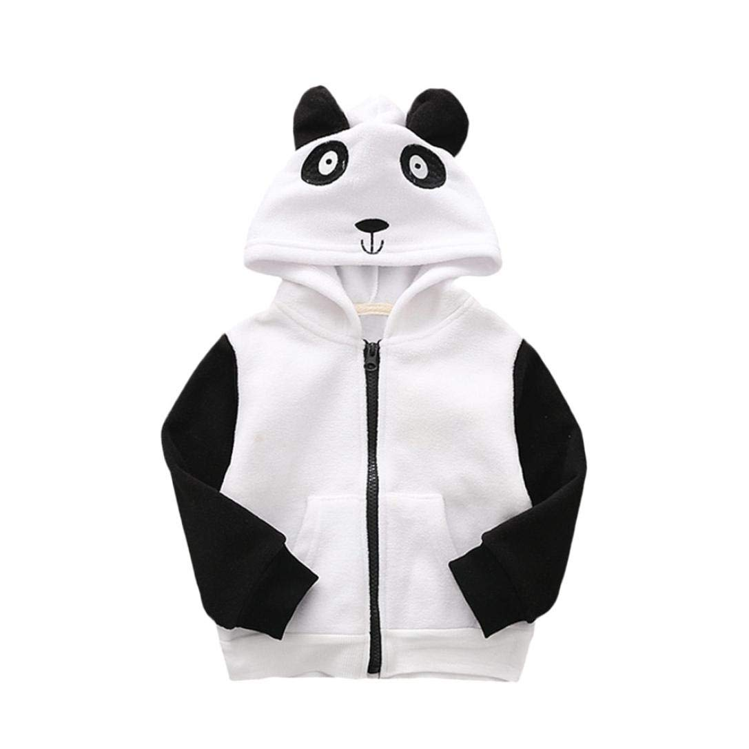 Jchen(TM) Baby Infant Kids Little Boys Girls Cartoon Animal Hooded Coat Warm Outwear Jacket for 0-4 Y
