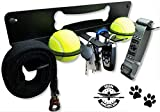 ALPHA Dog Heavy-Duty Leash Holder/Key Rack- For The Active Dog & Owner- Multi Purpose Wall Leash Holder/Hanger/Hook & Collar Rack - Hangs Dog Toys/Keys/Umbrellas/Tennis Balls/Hats) HARDWARE INCLUDED