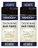 Nanogen Keratin Hair Fibers (Set of 2) Hair Loss Concealer - Dark Brown, 15 grams