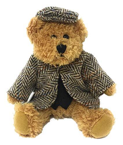 - Harris Tweed Brown Herringbone Dressed Scruffy Boy Bear