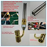 Professional MAPP Gas Torch Brazing Torch of MAPP/Propane Gas 1.5m Hose for Brazing Soldering Welding Heating Application can also be used for BBQ HVAC Plumbing (Tywel-3)