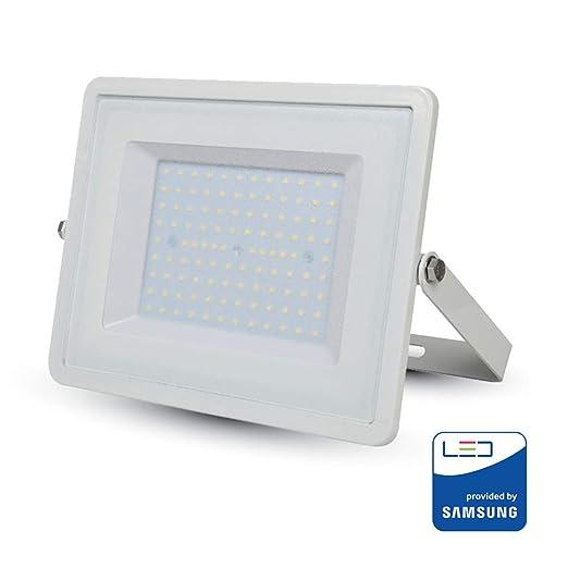 V-TAC VT-100 100W LED Blanco Proyector - Proyectores (100 W, LED ...