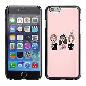 TopCaseStore / la caja del caucho duro de la cubierta de protección de la piel - Fashion Lady Friends Church - Apple iPhone 6
