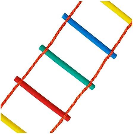 FIREDOPE Escalera de Cuerda de Escape de Emergencia para niños, Escalera de Cuerda para Escalar sobre el Arco Iris al Aire Libre, Exterior para niños y niñas subiendo Escalera,4m: Amazon.es: Hogar