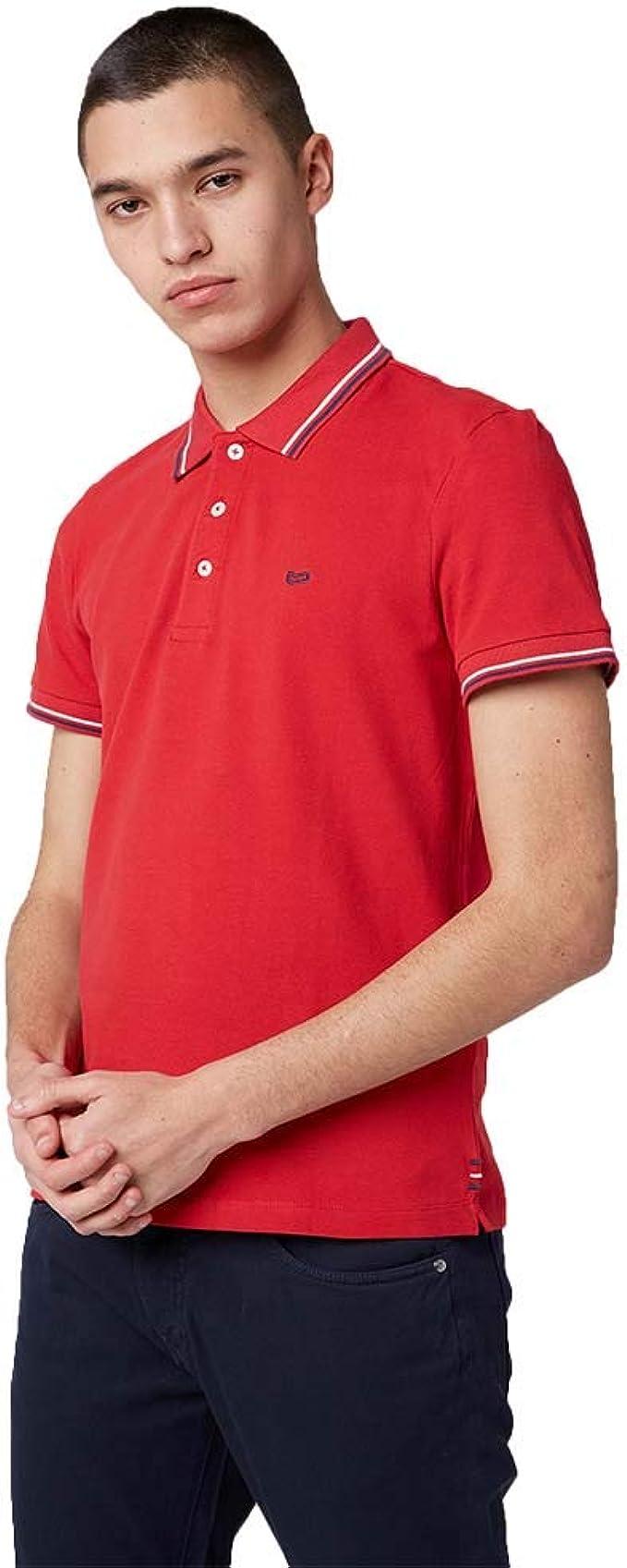 Gas Ralph 310032181409 - Polo Hombre, Color Negro y Rojo Rojo ...