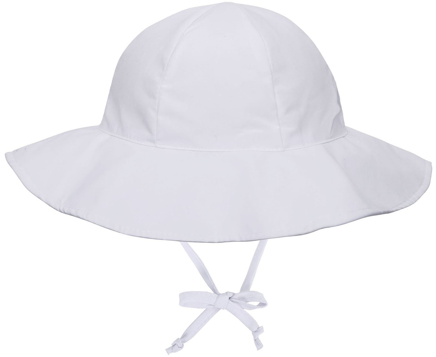 Livingston Girls' 50+ UPF Protective Wide Brim Sun Hat, White, 0-12 Months