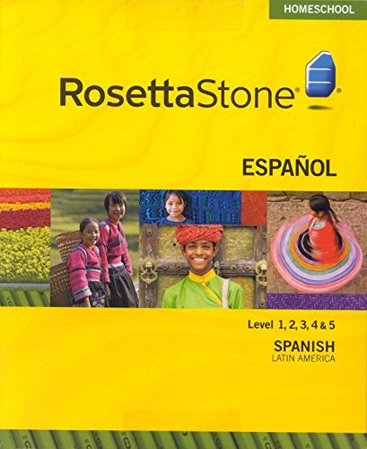 Rosetta Stone Spanish (Latin American) Level 1-5 Set with Audio Companion Homeschool Edition, Version 3