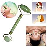 Iebeauty® Pack of 2 Jade Roller Massager -Rejuvenates Face and Neck Skin,Face Slimmer