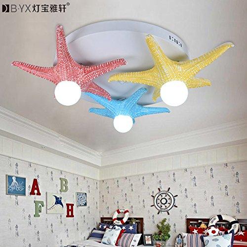 BLYC- 3 kreative Eastern Mediterranean Sea Star Kinder Schlafzimmer Balkon Gang Beleuchtung Decke Lampen jungen und Mädchen 700 * 660 * 180 mm