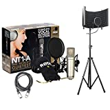 condenser pack - Rode NT1-A Studio Rec, Podcast Condenser Mic Pack w/Isolation Shield & XLR Cable