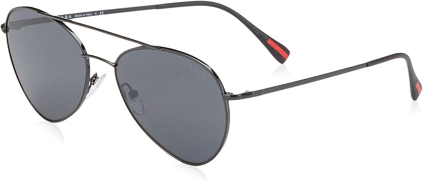 3ba29f54ac3da Amazon.com  Prada Linea Rossa Men s PS 50SS Sunglasses 60mm  Prada ...