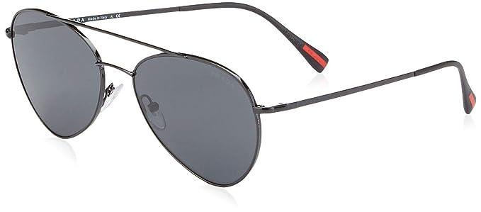 Prada Linea Rossa 0PS 51SS, Gafas de Sol para Hombre, Negro ...